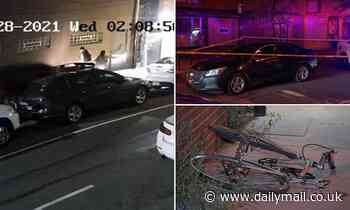 Philadelphia restaurant worker is killed walking home from work after car thief drove over her TWICE