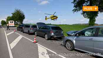 Unfall bei Ulm: Sieben Verletzte, davon zwei Kinder - Hubschrauber im Einsatz - Augsburger Allgemeine