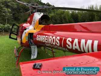 Arcanjo-03 é acionado para ocorrência clínica no Ribeirão Souto - Jornal de Pomerode
