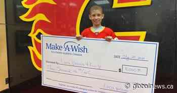 12-year-old Calgary boy battling leukemia raises $4K for Make-A-Wish Foundation