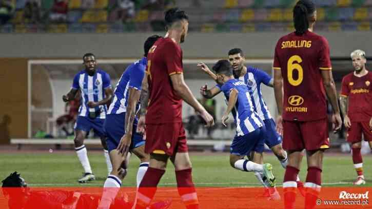 FC Porto-Roma, 1-1: grande golo de Vitinha dá empate à beira do fim - Record