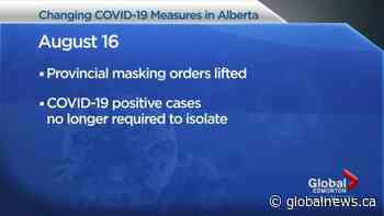 Alberta to loosen COVID-19 masking, isolation, testing rules as cases rise in the province