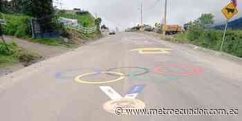 La medalla olímpica de Richard Carapaz ya está pintada en la vía Julio Andrade – El Carmelo - Metro Ecuador