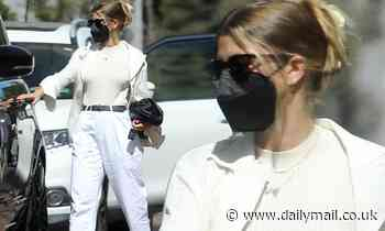 Sofia Richie looks chic in her summer whites following a shopping trip at Neiman Marcus