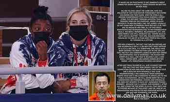 Simone Biles thanks fans for 'love and support' after her shock withdrawal at Tokyo Olympics