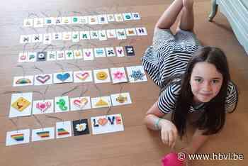 Fleur (8) verkoopt strijkparelwerkjes voor kinderen die hun ... (Zonhoven) - Het Belang van Limburg Mobile - Het Belang van Limburg