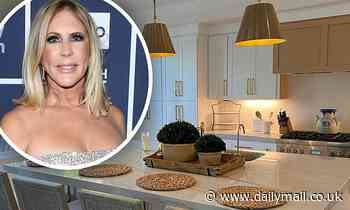 RHOC's Vicki Gunvalson shows off her newly decorated  downsized home and 'informal wine room'