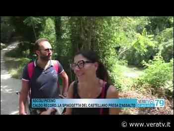 Ascoli Piceno - Caldo record, la spiaggetta del Castellano presa d'assalto - VeraTV