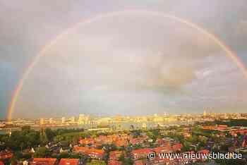 Schitterende beelden van dubbele regenboog boven Antwerpen (stuur jouw foto in)