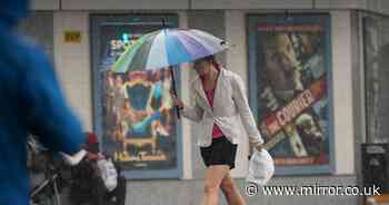 Heavy rain and thundery showers to blast Britain along with 65mph winds