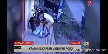 Pucallpa: cámaras de seguridad registran violento asalto a joven - Panamericana Televisión