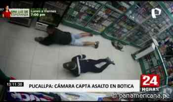 Pucallpa: cámara capta a avezados delincuentes en asalto a botica - Panamericana Televisión