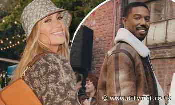 Jennifer Lopez and Michael B. Jordan model at NYC block parties for Coach's fall campaign