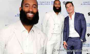 Bachelor nation pals! Matt James rocks all white as he supports equally dapper