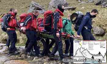 Two female hikers hit by lightning on 3,560ft Snowdon summit after getting stranded in freak storm