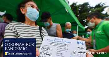 Queues in the heat as Hong Kong launches walk-in coronavirus jabs for elderly - South China Morning Post
