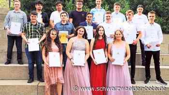 Haiterbach - 18 Burgschüler starten neuen Lebensabschnitt - Schwarzwälder Bote