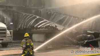 3 people sent to hospital after southeast Calgary trailer fire | Watch News Videos Online - Globalnews.ca