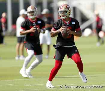A crackling competition? 49ers' Jimmy Garoppolo, Trey Lance make dazzling camp debuts