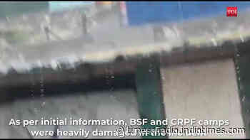 Cloudburst near Amarnath Cave, heavy damage to BSF and CRPF camps