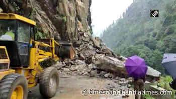 Gangotri Highway temporarily closed due to landslide