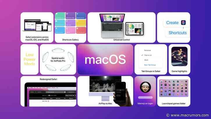 Apple Releases New macOS 12 Monterey Public Beta