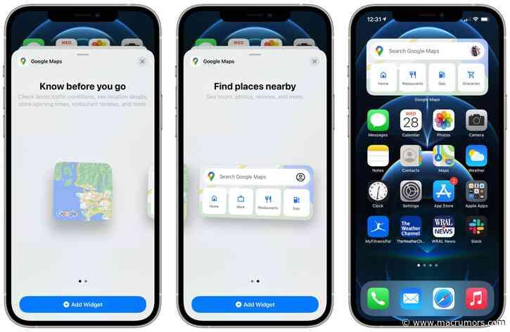 Google Maps Gains Home Screen Widgets on iPhone
