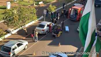 Acidente Colisão entre motocicleta e carro deixa um ferido em Jacarezinho 28/07/2021 às 16 - Portal da Cidade Jacarezinho