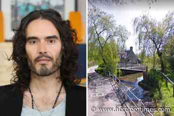 Controversial celebrity Russell Brand spotted at Herefordshire pub