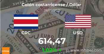 Dólar hoy en Costa Rica: cotización del colón costarricense al dólar estadounidense del 28 de julio. USD CRC - infobae