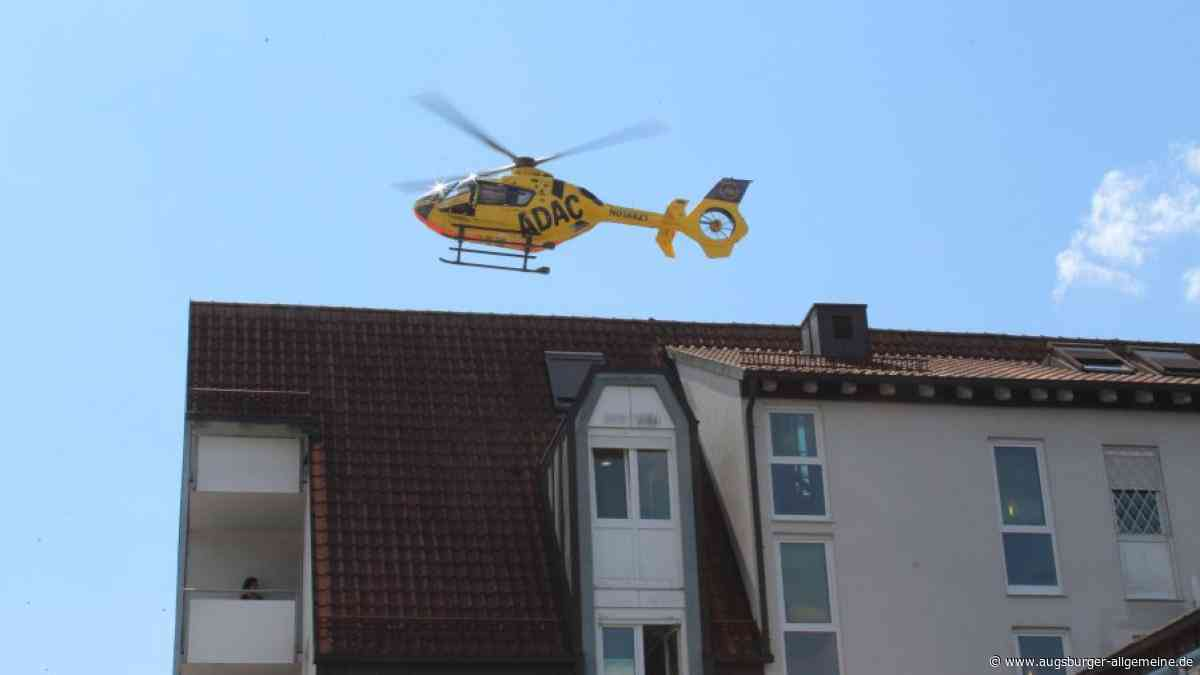 ADAC-Helikopter eilt in Landsberg zu Unfall im Englischen Garten