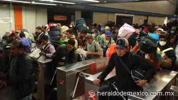 Guillermo Calderón Aguilera, director del Metro, verifica trabajos en Tacuba L7 - El Heraldo de México
