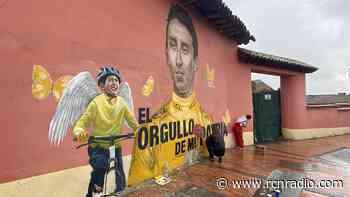 Mural de Egan Bernal y Julián Gómez en Zipaquirá fue restaurado - RCN Radio