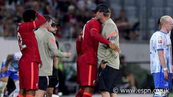 Liverpool's Van Dijk, Gomez return in friendly