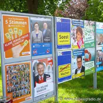 Erste Wahlplakate in Soest - Hellweg Radio