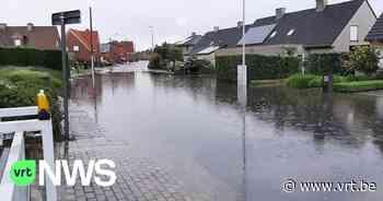 Code oranje voor wateroverlast in West-Vlaanderen: verschillende delen van Nieuwpoort en Knokke-Heist onder water - VRT NWS