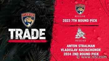 Florida Panthers Acquire 2023 Seventh-Round Pick from Arizona Coyotes - NHL.com