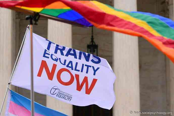 More Than 40% of Americans Know Someone Who Is Transgender