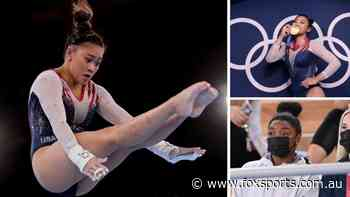 Monumental error sees Suni Lee crowned new gymnastics queen as Simone Biles watches on