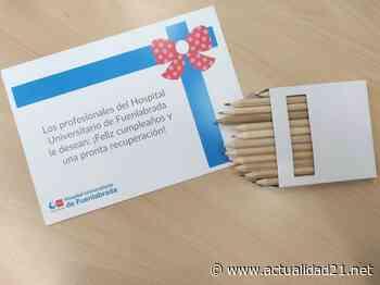 El Hospital Universitario de Fuenlabrada felicita por su cumpleaños a los pacientes ingresados - Actualidad 21