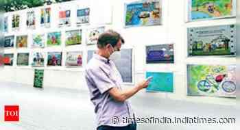 Kolkata: Art to promote cycling, clean air - Times of India