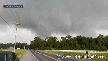 """""""Peligroso y destructivo"""": reportan tornado ante el paso de tormenta - Telemundo 62"""