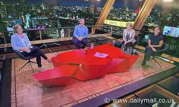 Tokyo skyline has been on the BBC's Olympics coverage... but the teams are in Salford
