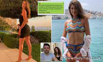 Test and Trace worker knocked on model's door to check she was isolating then sends her flirty text
