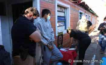 Allanan un inquilinato en Lambaré y capturan a un microtraficante - Hoy