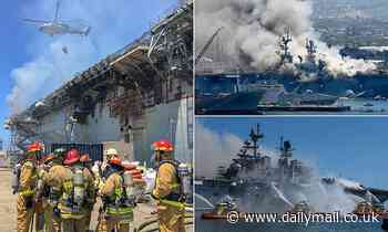 US Navy charges sailor for fire that destroyed the $750million USS Bonhomme Richard