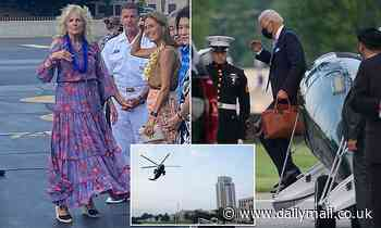 Jill and Joe Biden leave Walter Reed after first lady is treated for a puncture wound