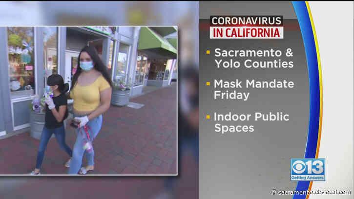 Sacramento, Yolo County Restaurants Prepare To Enforce Mask Mandates For All Again