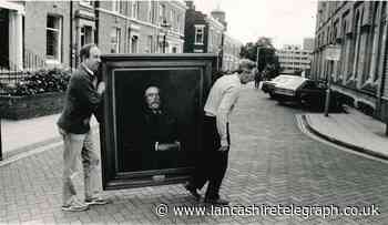 Blackburn 'iron man's' portrait was on move to new home