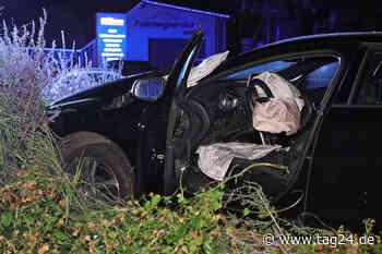 Freital: Volvofahrerin rauscht auf Mittelinsel: Laterne gefällt, Blumen ramponiert - TAG24